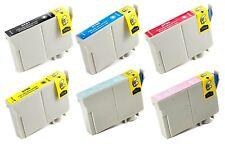 Reman 6 Packs Ink Cartridges for Epson Artisan 1430 Stylus Photo 1400