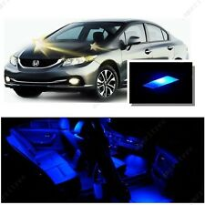 For Honda Civic 2013-2016 Blue LED Interior Kit + Blue License Light LED