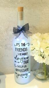 LED Star Light Up Bottle Gorgeous Gift For a Friend - Christmas or Birthday
