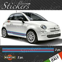 kit FASCE adesive Fiat 500 MARTINI RACING + Adesivi martini racing logo
