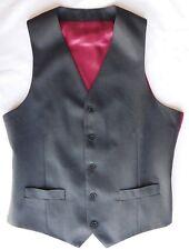 Mans wool waistcoat Charles Tyrwhitt charcoal grey chest size 40 inch M NEW