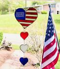 American Patriotic USA Flag SunCatcher Wind Chimes Sun Catcher Stained Glass