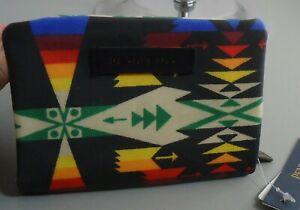 Pendleton wool zippered pouch Pendleton minimalist keychain wallet Women change wallet Zippered coin purse Bff gift Teacher gift