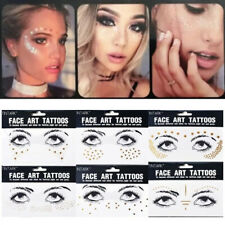 Body Adhesive Glitter Stickers Tattoo Face Eye Freckles Festival Makeup DIY Gift