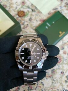 ROLEX OYSTER PERPETUAL SUBMARINER STEEL 114060 B&P 2013
