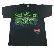 New listing Vtg 1995 Budweiser t-shirt -Your Pad Or Mine - Frog Promo - Single Stitch - L