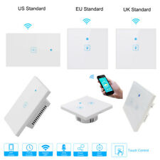 1/2/3 Gang  WIFI Smart Wall Light Touch Switch for Alexa Google Home App Timer