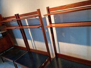 vintage Mid century danish teak wall units