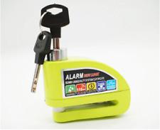 Yellow Anti theft Motorcycle Disc Lock Alarm+Keys+Bag Fits Vespa Motorcycles