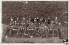WW1 soldier group Army Service Corps ASC Norfolk Yeomanry resting having meal
