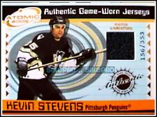 PACIFIC ATOMIC 2001 KEVIN STEVENS NHL PITTSBURGH PENGUINS GAME JERSEY PATCH /353