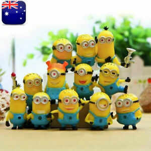 12 Pcs Mini Minions 1.5in Action Figures Doll Toy Gift Party Cake Topper Gift