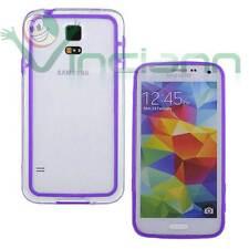 Pellicola+BUMPER VIOLA trasparente per Samsung Galaxy S5 G900F custodia cover