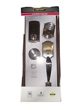 Defiant electronic Entry Door handle set 903 Satin  nickle retail $150