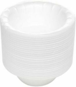 12 Oz White Foam Polystyrene Disposable Party Bowl For Hot or Cold Food