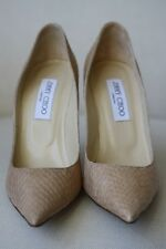 JIMMY CHOO ABEL PYTHON BEIGE PUMPS HEELS EU 38 UK 5