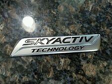 Mazda CX-5 Skyactiv Technology Silver Emblem 13-16 Badge Rear Trunk Liftgate OEM