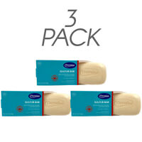 Dermisa Sulfur Bar Soap. Natural Acne & Pimple Skin Treatment. 3 Oz. Pack of 3