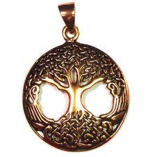 árbol de la vida celta / del mundo bronce amuleto COLGANTE TREE OF LIFE a-d9