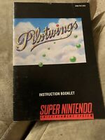 Pilotwings Super Nintendo SNES Manual Only Original Authentic VG Condition