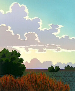 """Doug West, """"Afterglow"""", Limited edition serigraph, 11""""h x 9""""w image"""