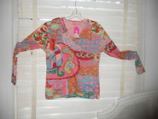NWT Oilily Archives ~ Art to Wear ~ Krokus Abstract Print Wrap LS Tee ~ XL