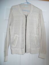 Maurices Lace Front Full Zip Beige  Jacket Size XL