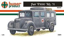 1/72 Ford V3000 Kfz 31. Ambulance Truck Hunor Model WWII RESIN kit 72031