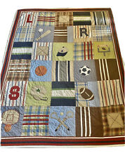 pottery barn kids sports quilt twin