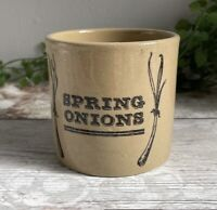 Vintage Spring Onion Jar Pot PEARSONS OF CHESTERFIELD 1810 Rustic Farmhouse Deco