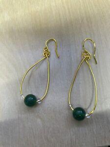 jade earrings 10 K