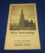 Simkowsky - Wiener Stadtrundgänge - Erster Spaziergang durch die Innere Stadt