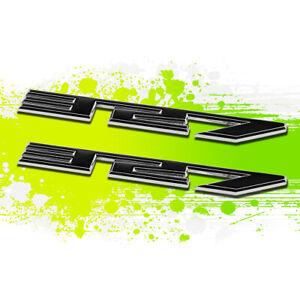 X2 Chrome Black SBC 327 5.3 Metal Bumper Trunk Grill Emblem Decal Sticker Badge