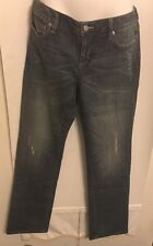 Banana Republic Ladies Jeans Denim Distressed Cotton Size 29/8R NWT$90