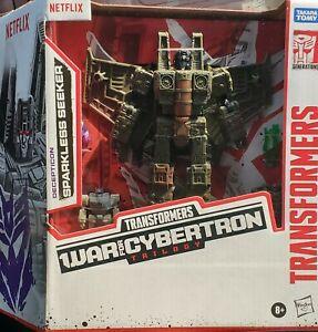 Transformers Netflix War For Cybertron Voyager Class Sparkless Seeker New Sealed