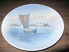 """Royal Copenhagen Harbor Scene Sail Boat 10"""" Collector Plate"""