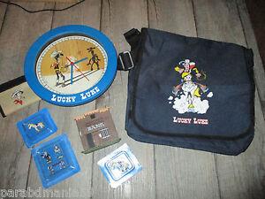 Los Lucky Luke-Figurines Blei Unter Blister-Porte Feuille-Cartable-Horloge