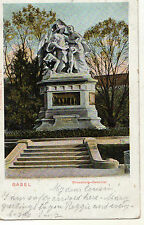 OLD POSTCARD - SWITZERLAND - Basel - Strassburg-Denkmal - 1904 - undivided back