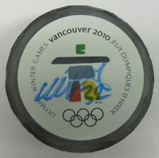 NIKLAS BACKSTROM SIGNED 2010 VANCOUVER OLYMPICS HOCKEY PUCK 1002016