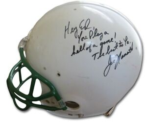 "Joe Namath Autographed Authentic Football Helmet Inscribed ""To Ed"" JSA DD60725"