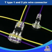 10 X T Type 1pin 2 Pin Quick Wire Splice Connector Wires Joints UK Seller