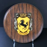 Vintage Stuttgart Wooden Looking Plate Wall Hanging 10 x 10