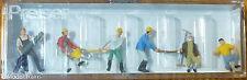 Preiser HO #10042A People Working -- Lumberjacks (6 people in pkg) Hand Painted