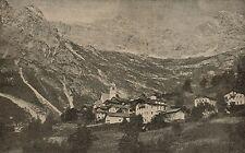 D1146 Belluno - Zoldo alto - Goima - Veduta - Stampa antica - 1925 old print