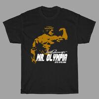 Arnold Schwarzenegger Mr. Olympia Muscle Man Men's Black T-Shirt Size S to 3XL