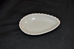 Celadon Porcelain Soap Dish, Jade Green, Teardrop Shape, Made in Tailand