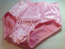 Women Panties,Briefs,Control Panties Ann Diane Size XXL Pink Satin W/2 Pockets