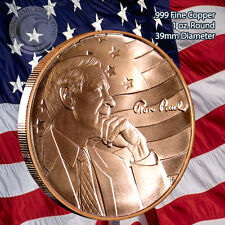 Ron Paul Peace Freedom and Prosperity 1 oz .999 Copper Round Limited & Rare AOCS