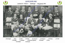 "Scotland 1901 (v Wales) 12"" x 8"" Rugby Team Photo Players Named Triple Crown"