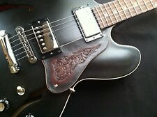 Hand Tooled/Carved Custom Leather Pickguard Gibson 335 or Epiphone Sheraton Dot